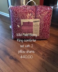 Wild field berry king comforter set with 2 pillow shams