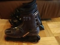 Purples woman rollerblades with full protective eq Montreal, H4B 2R1
