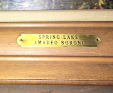 Spring lake oil painting by amadeo boroni