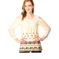 women's white and yellow long sleeve dress Mumbai, 400011