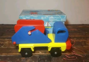 New wood/wooden dump truck collectible toy Made In Romania