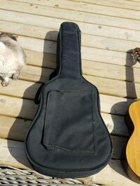black guitar gig bag