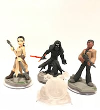 Kylo Ren, Finn, and Rey Star war the force awakens Disney infinity figures WASHINGTON