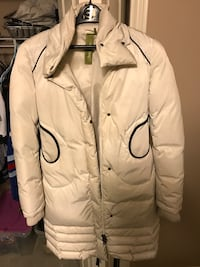 Soia and kyo long white down coat