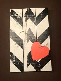 white and black wooden board