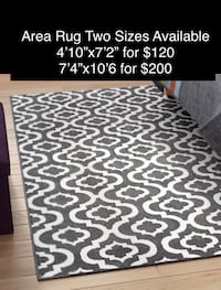 Grey and White Area Rug - Two Sizes Available Oakville, L6M 4J9
