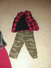 black and pink camouflage pants