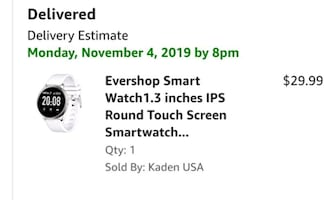 Smart Watch Tracker IPS Round Touch Screen NEW IN BOX ½ PRICE 15