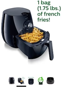 Philips HD9220/26 Airfryer, Black Toronto, M3K 1H5