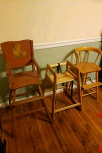 2 Wood High Chairs Fayetteville