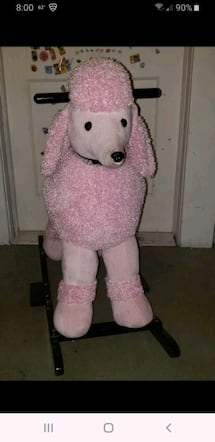 ROCKING PINK POODLE TOY NEW CONDITION