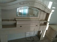white and brown wooden TV hutch Manassas