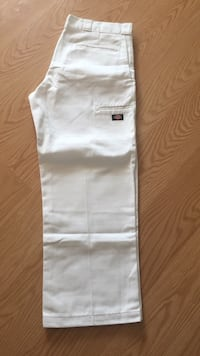 Men's All White Dickies Pants, Size 38/30