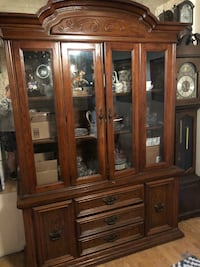 Brown wooden framed glass display cabinet Downey, 90242