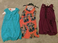 three assorted-color sleeveless dresses Nokesville, 20181