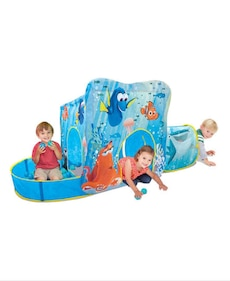 blue and teal inflatable play center