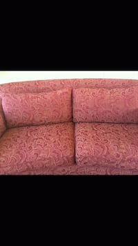 red and white floral fabric sofa Las Vegas, 89148