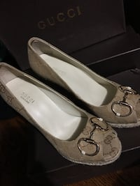GUCCI WEDGES.   USED BUT IN EXCELLENT CONDITION