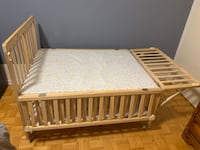 Crib, bed and storage. Toronto, M9A 4M6