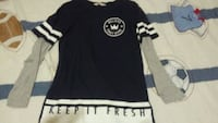 black and white crew-neck shirt Laval, H7P 3N6