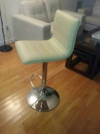white leather padded hydraulic bar seat Lakefield