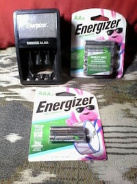 Energizer AA & AAA battery charger & batteries Brampton, L6X 1G3