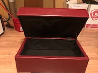 red leather ottoman with storage Montréal, H8P 3B4