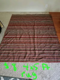 brown and red area rug Flint, 48504