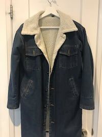 Small- Knee length denim jacket with lining