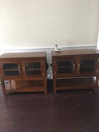 Twin accent tables, great for storage, excellent condition. Moved and most go.  Price negotiable. Price includes both tables. Clinton, 20735