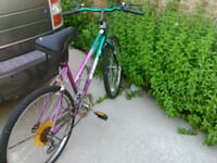 "Size 26"" pink and green mountain bike Troy"