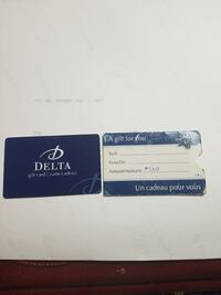 Delta giftcard $500 value Mississauga, L5M 5K4