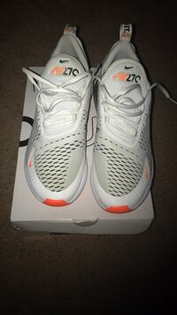 pair of white Nike basketball shoes with box Laurel, 20708