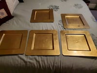 5 square gold chargers