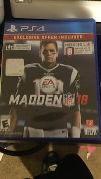 Madden nfl 18 ps4 game
