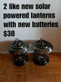 2 like new solar powered lanterns North Vancouver, V7M 2N2