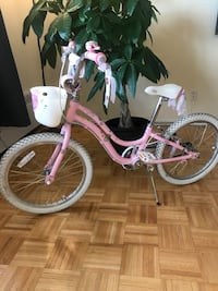 toddler's pink and white bicycle Toronto, M2R 2Z3