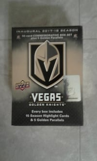 2018 Upper Deck Vegas Golden Knights Inaugural Season Commemorative 50-Card Set