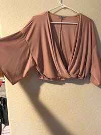 Blush Pink Crop Top size XL