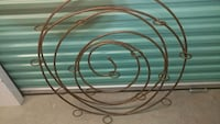 Large Metal Round Wall Candle Holder