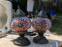 Turkish mosaic glass bedside lamps Ashburn, 20147