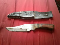 brown handled knife with sheath