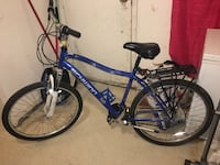 blue and black Schwinn hardtail mountain bike Washington