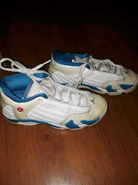 pair of white-and-blue Nike basketball shoes Pittsburg, 94565