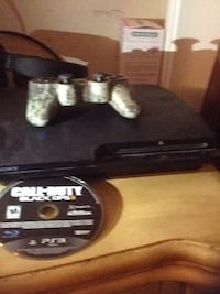 black Sony PS3 slim console with controller Pittsburg, 94565