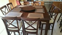 brown wooden dining table set Milton, L9T 6V3
