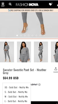 Fashion Nova sweater set Fort Washington, 20744