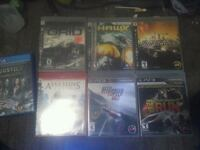 6 PS 3 games and 1 PS 4 gamr  Calgary, T2B 1G1