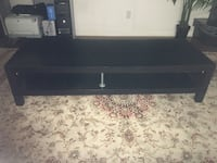 black wooden TV stand with cabinet Toronto, M9V 4S4