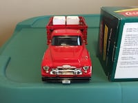 Red dropside truck scale model